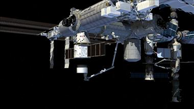 Canadarm2 will attach the First Expandable Module to the ISS