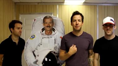 "Thumbnail for video 'Montreal Band Simple Plan Launches their ""Astronaut"" into Space'"