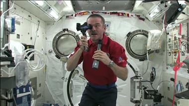 Thumbnail for video 'Chris Hadfield on how eyesight is affected in space'