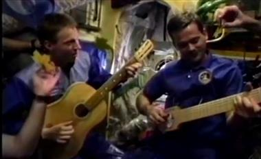 Thumbnail for video 'A Blast from the Past: Chris Hadfield plays guitar on Space Station Mir'