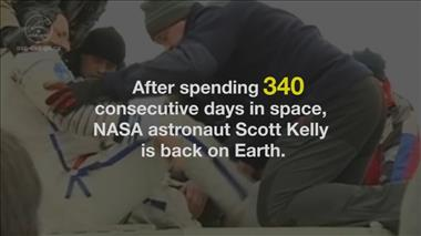 Thumbnail for video 'NASA Astronaut Scott Kelly Returns to Earth after One-Year Mission'