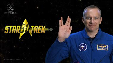 Thumbnail for video 'David Saint-Jacques wishes Star Trek a happy 50th anniversary'