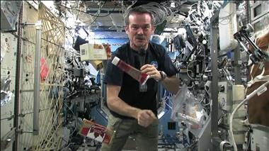 Thumbnail for video 'Chris Hadfield and some incredibly floating Canadian space food'