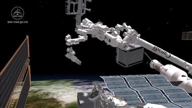 Thumbnail for video 'Dextre changes a pump on the International Space Station'