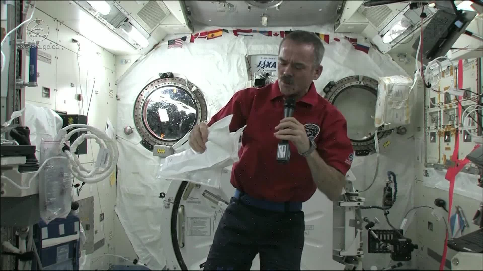 Chris Hadfield on getting sick in space - Canadian Space ...