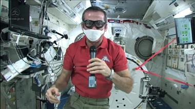 Thumbnail for video 'Chris Hadfield gets tough on Space Station spills'