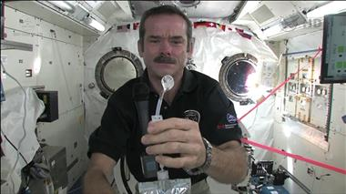 Thumbnail for video 'Chris Hadfield demonstrates how astronauts wash their hands in zero-g'