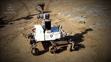 Thumbnail for video 'REX (Robot EXplorer) - Terrestrial prototype of a Mars rover'