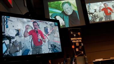 Thumbnail for video 'Chris Hadfield Speaks with William Shatner live from space - Event Video'