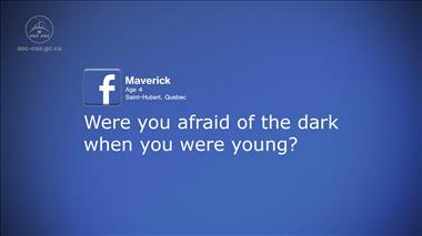 Thumbnail for video 'Kids' Questions – Part 5: Were you afraid of the dark when you were young?'