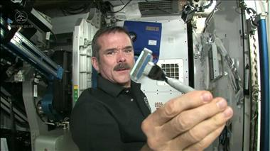 Thumbnail for video 'Chris Hadfield on how Astronauts Shave in Space'
