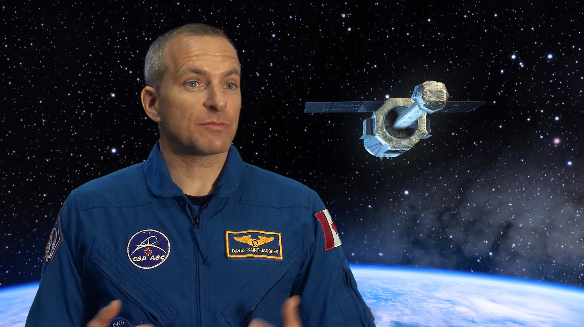 Astronaut David Saint-Jacques explains the ASTRO-H mission