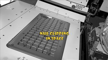 Thumbnail for video 'Chris Hadfield - Nail Clipping in Space'