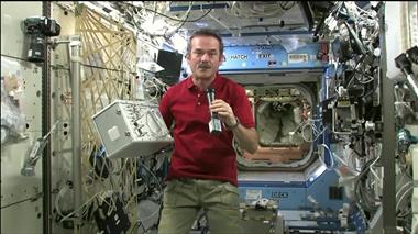 Thumbnail for video 'Chris Hadfield's First News Conference as Commander of the ISS'