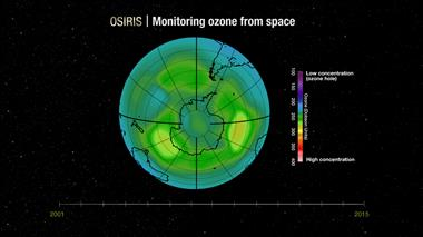 Thumbnail for video 'Monitoring the ozone layer from space'