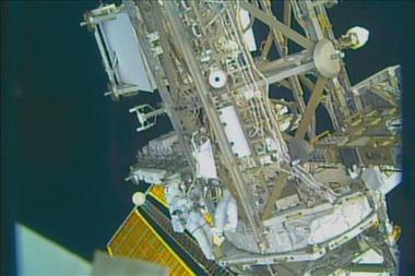 Thumbnail for video 'A shout out to the CSA from NASA astronauts during a spacewalk'