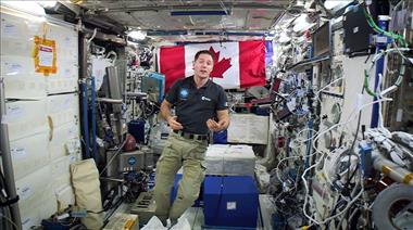Thumbnail for video 'Astronaut Thomas Pesquet explains how crews cope with living in space'