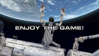 Thumbnail for video 'DEXTRE watches the Super Bowl from the ISS'